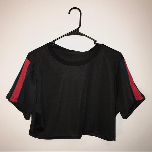 f2b675b9c9dc Gucci Tops | Look A Like Green Red Stripe Crop Top | Poshmark